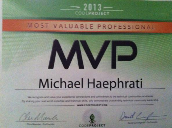 MVP for Michael Haephrati